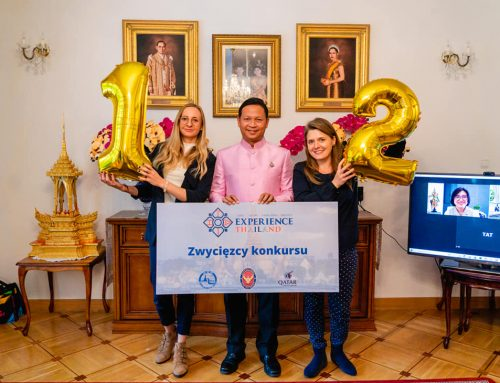 J.E. Chettaphan Maksamphan, Ambasador Tajlandii w Polsce przewodniczył ceremonii wręczenia I i II nagrody zwycięzcom kampanii Experience Thailand